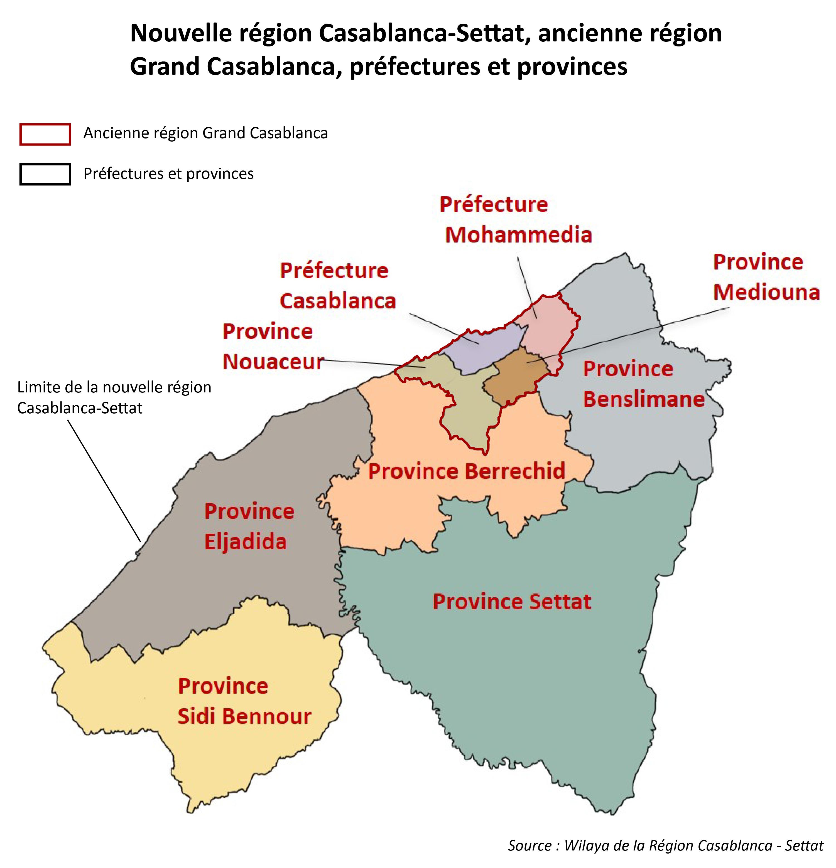 Carte des périmètres administratifs