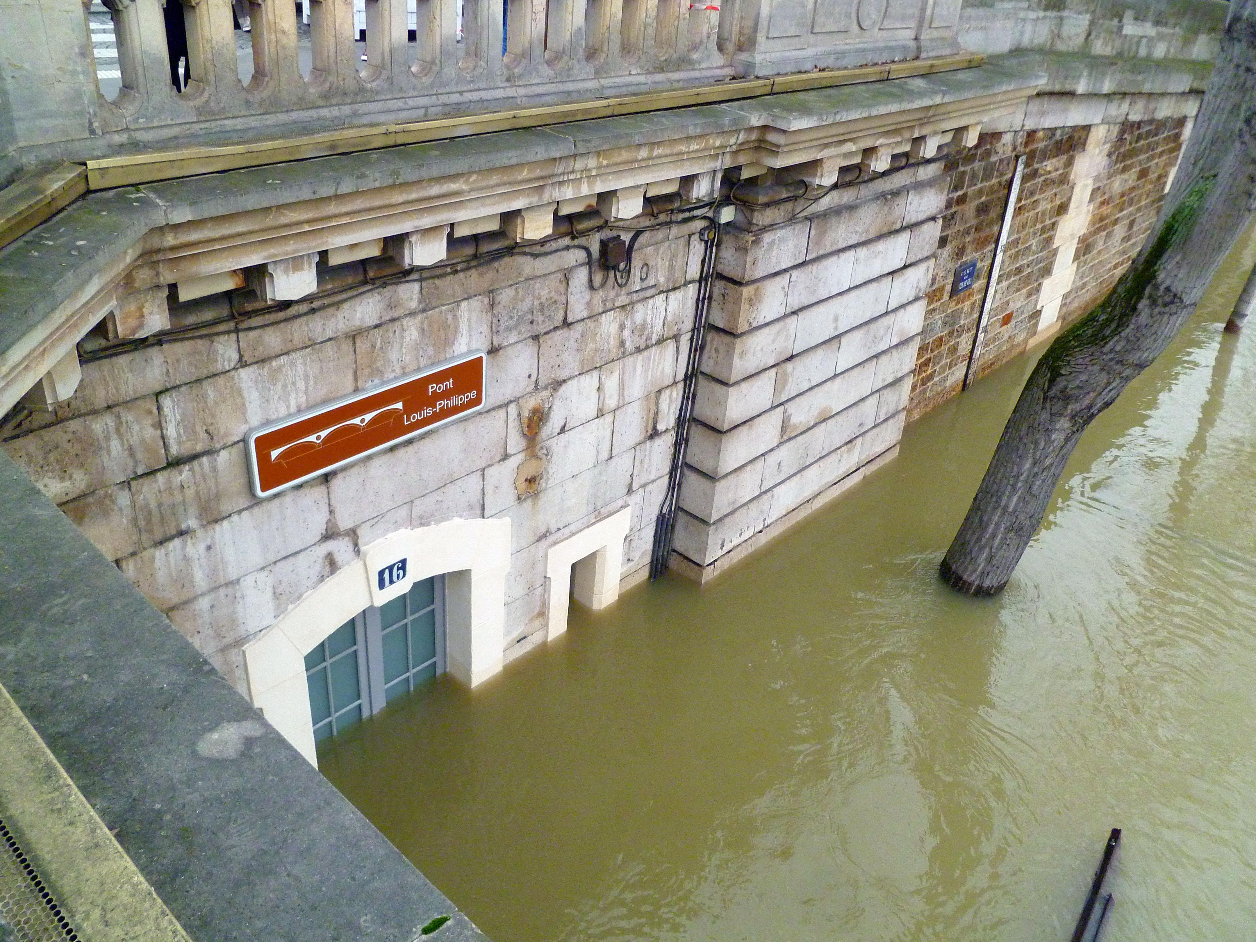 Paris - Crue de la Seine, 8 mars 2018